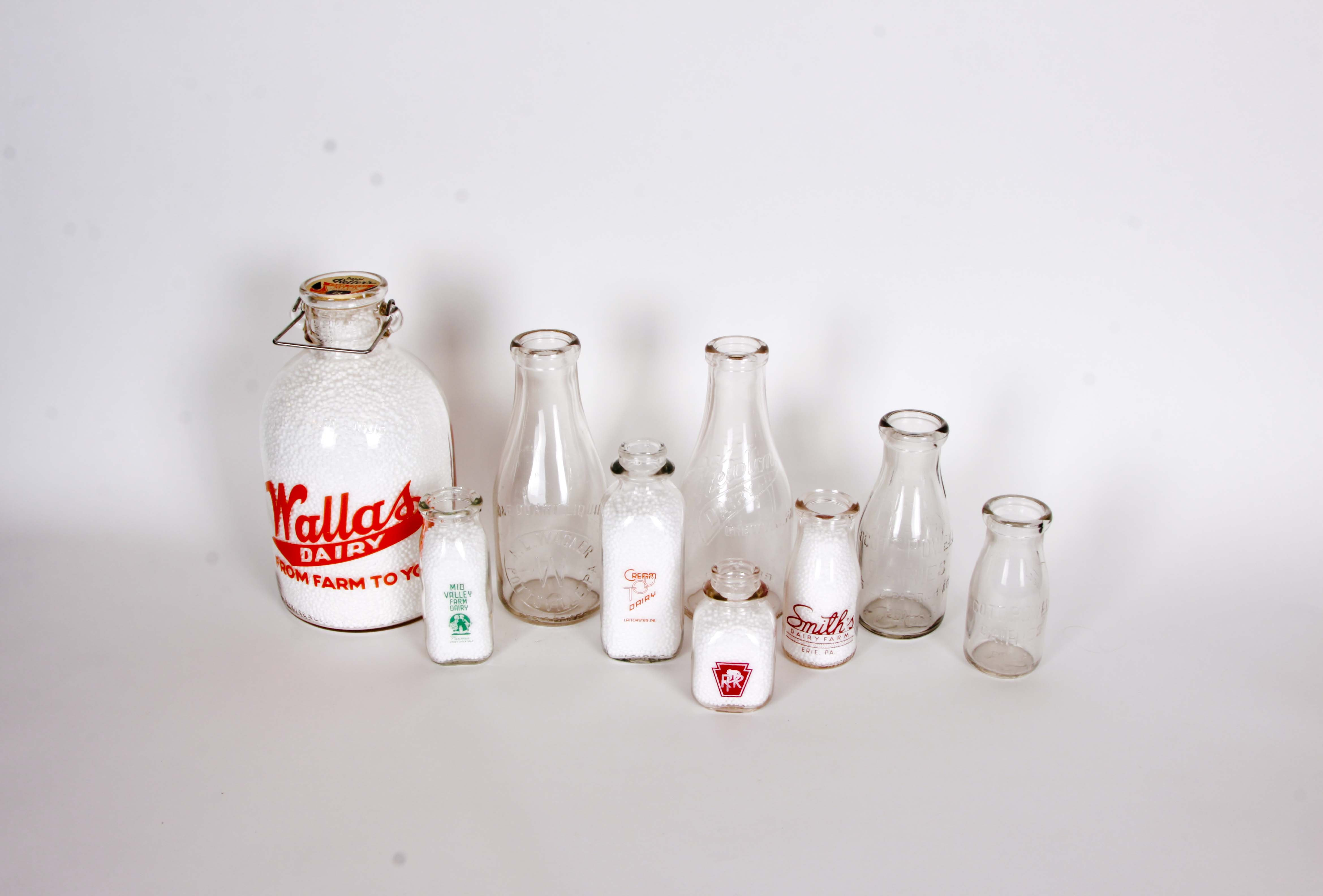 Collection of Vintage Pennsylvania Dairy Bottles and Jars II