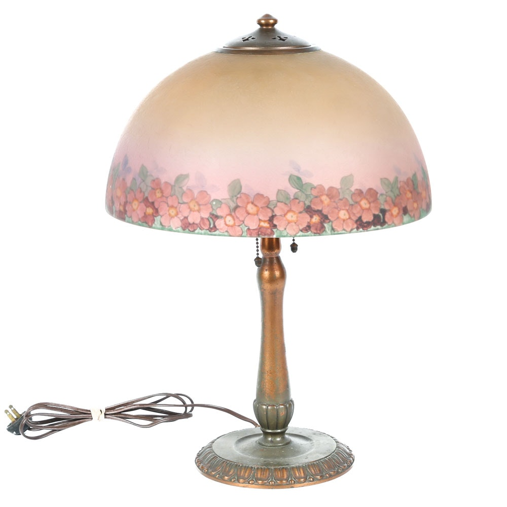 Antique Art Nouveau Lamp By Handel ...