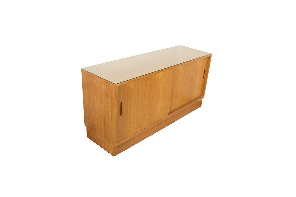 Mid Century Modern Style Teak Console Cabinet