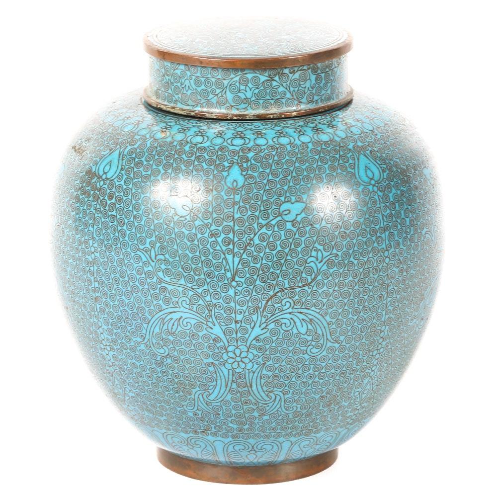 Antique Cloisonne Ginger Jar