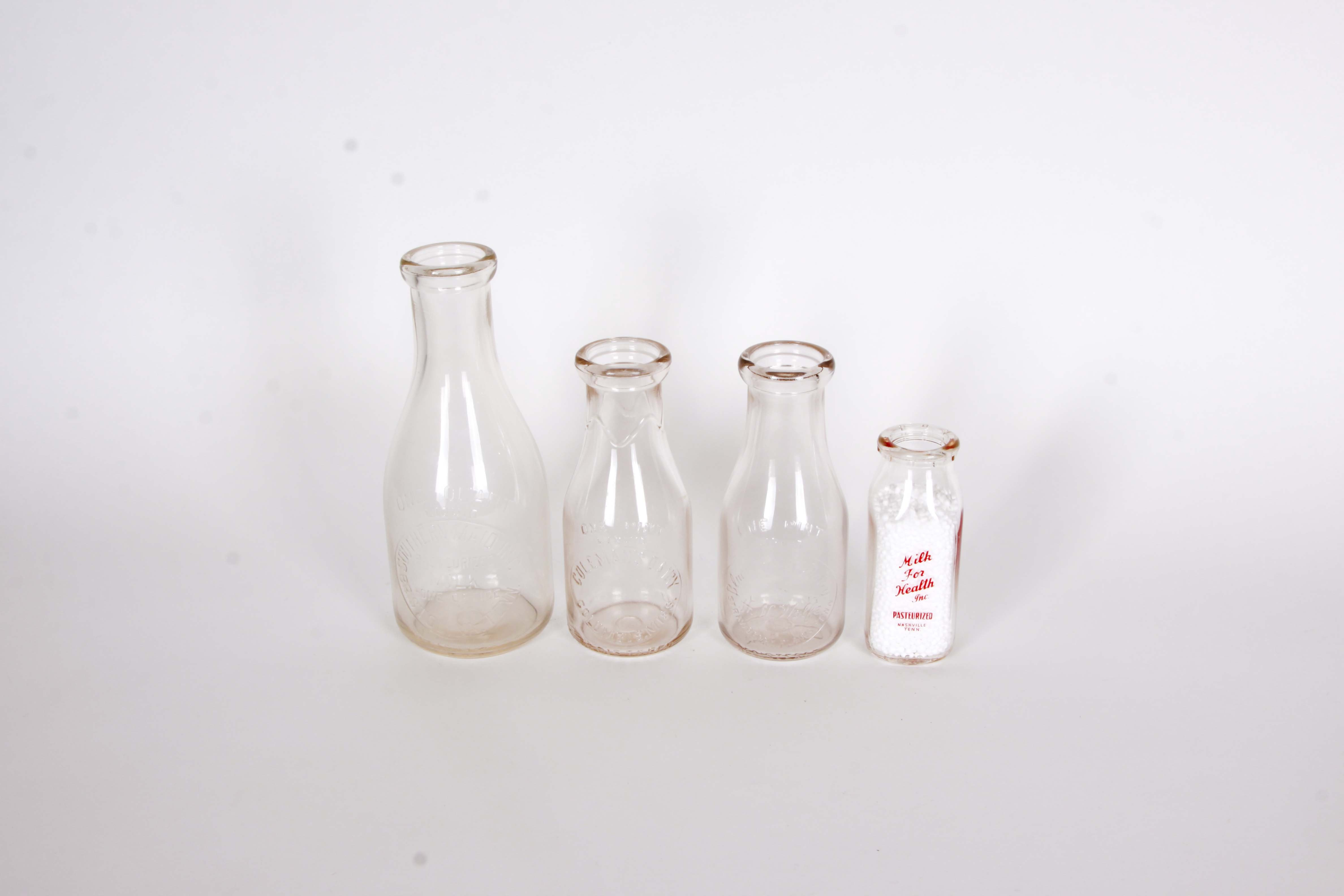 Selection of Vintage Tennessee and Mississippi Milk Bottles