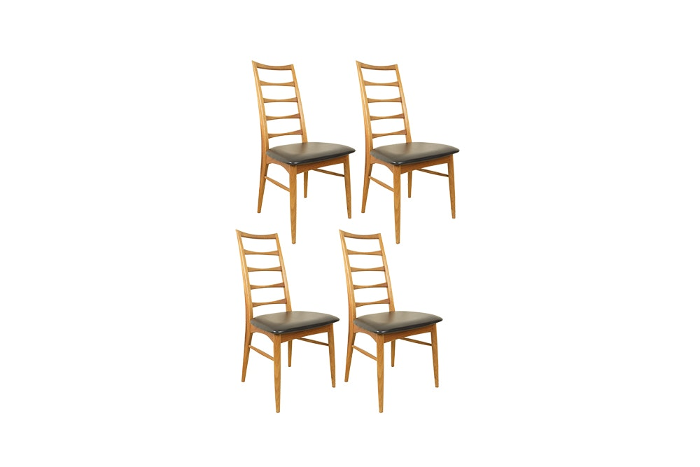 Four Mid Century Modern Style Ladder Back Chairs after Niels Kofoed Design