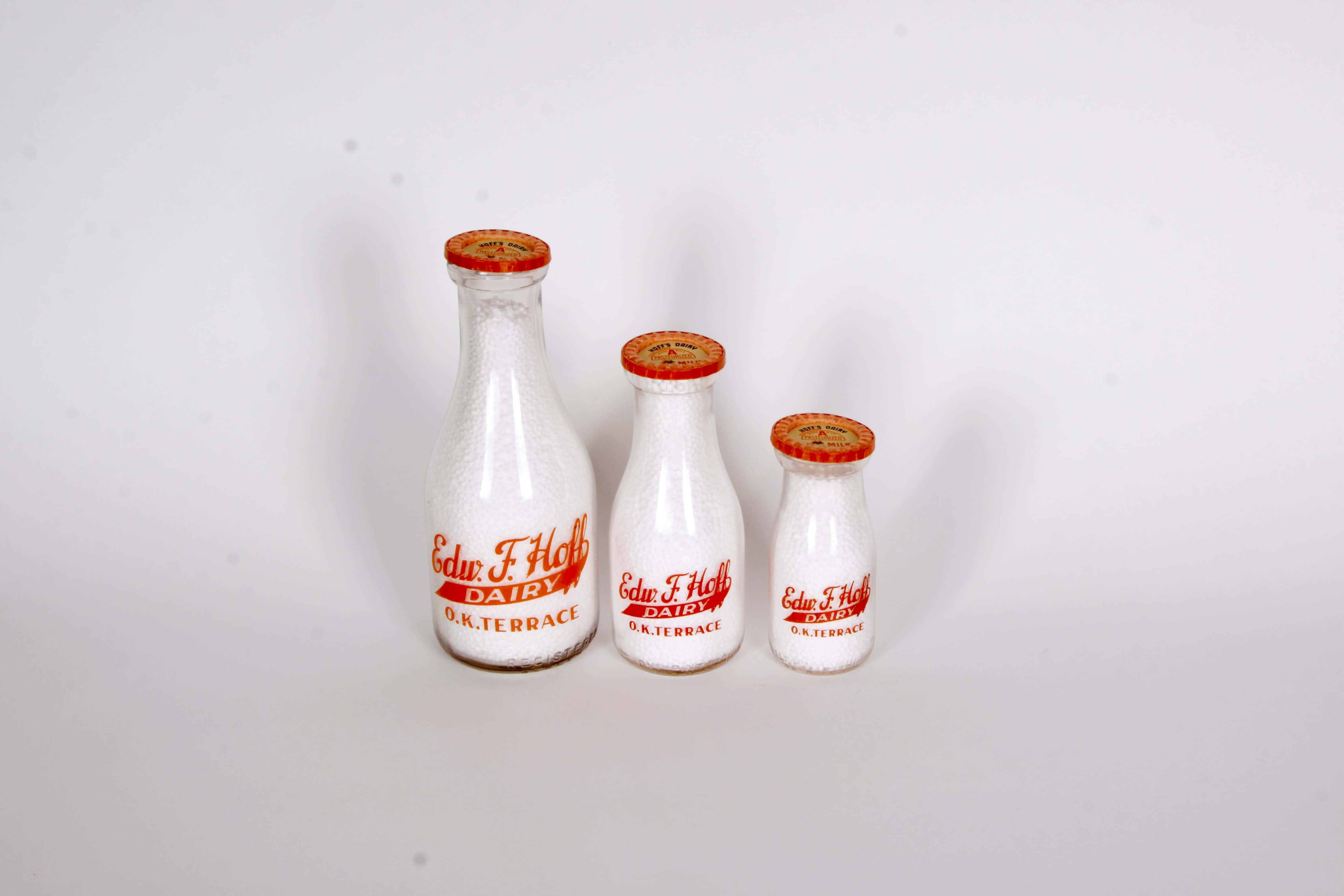 Edward F. Hoff Dairy Milk Bottle Set