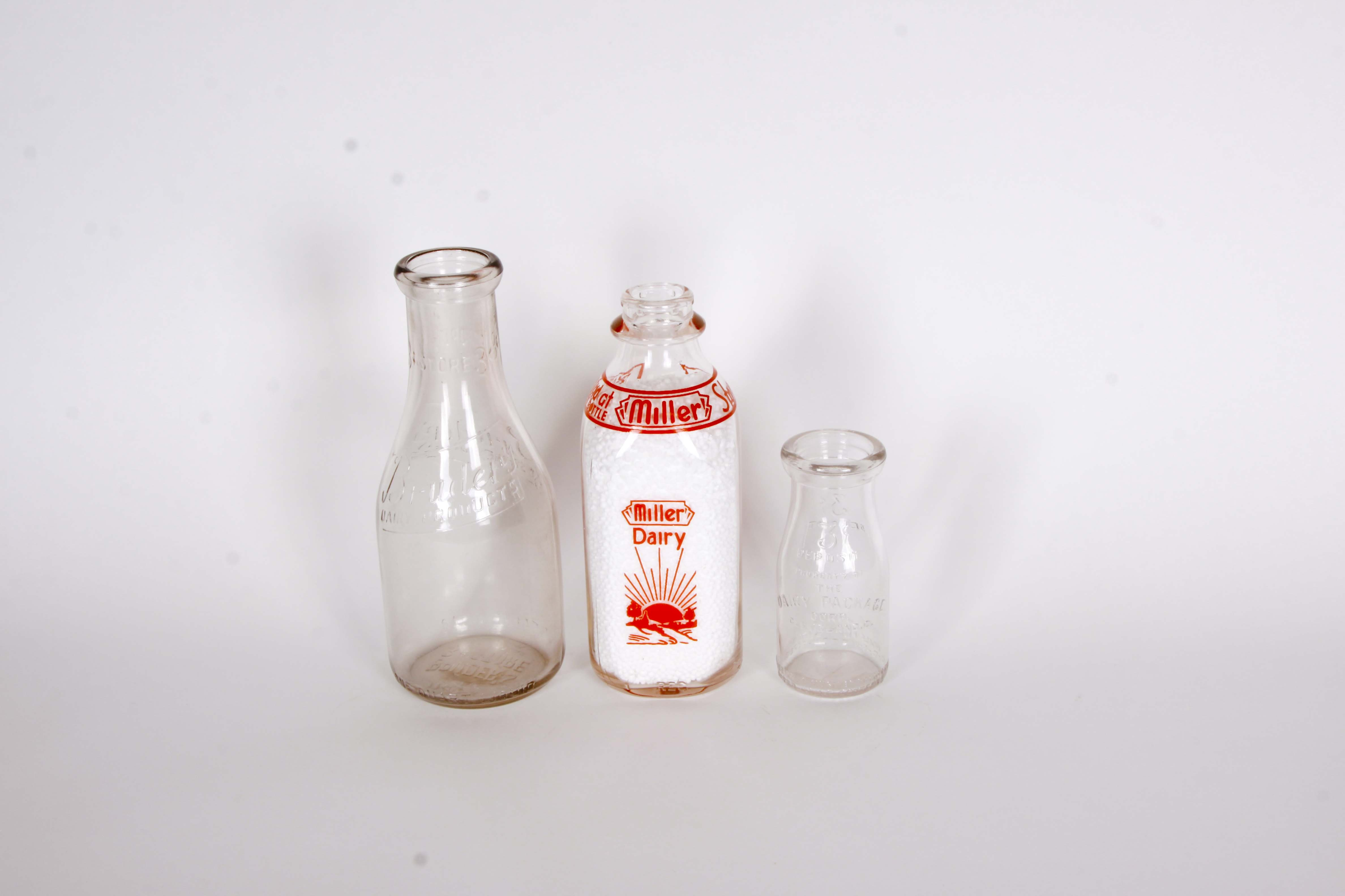 Collection of Vintage Cleveland Ohio Milk Bottles
