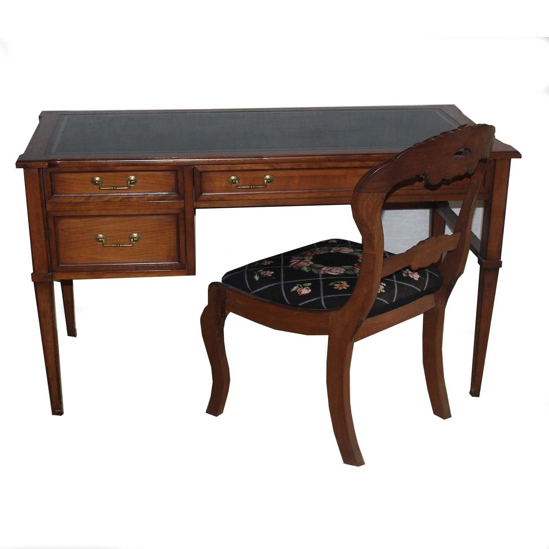 Vintage Sugh-Lowry Student Desk & Antique Victorian Chair