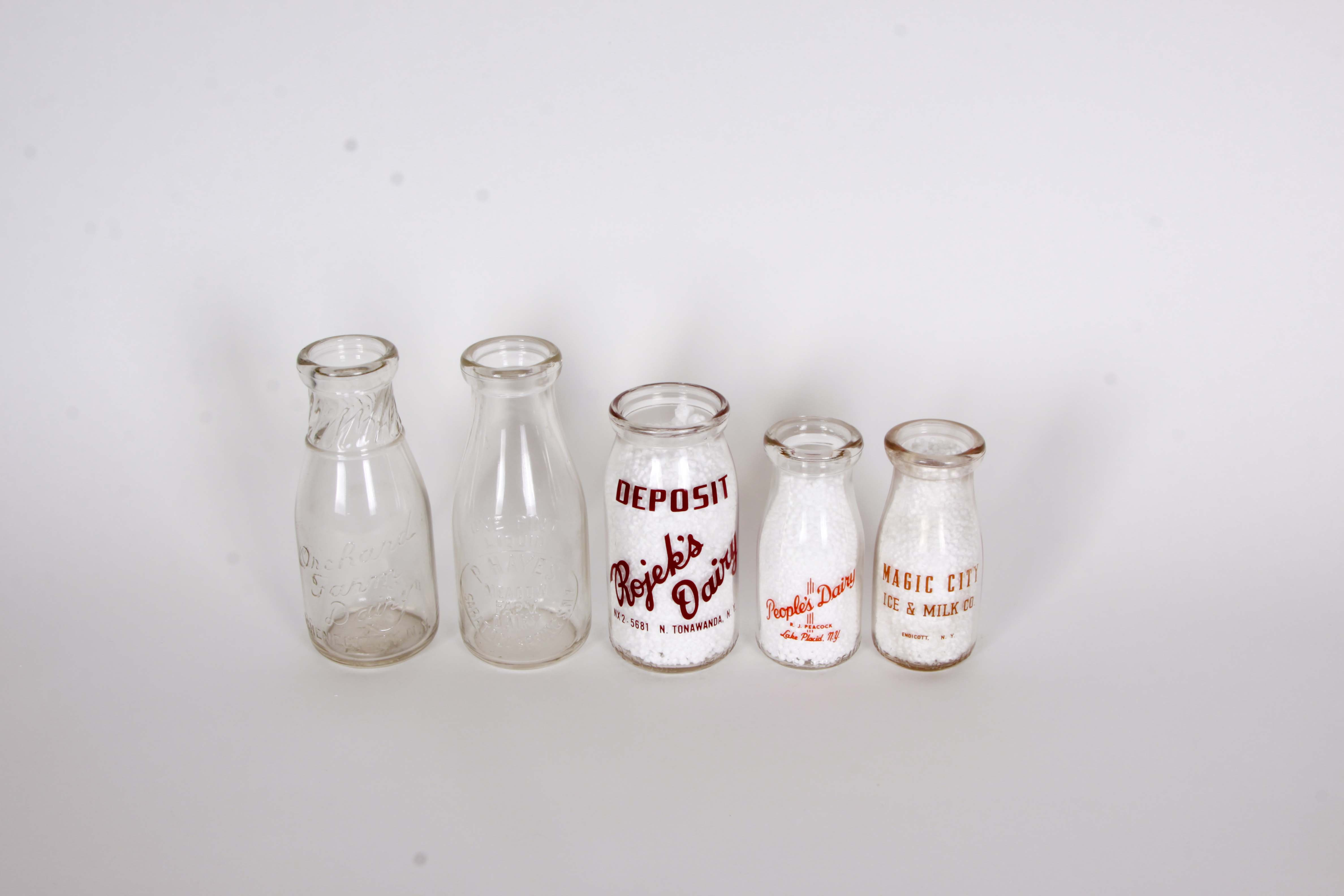 Collection of Northern New York Milk Bottles