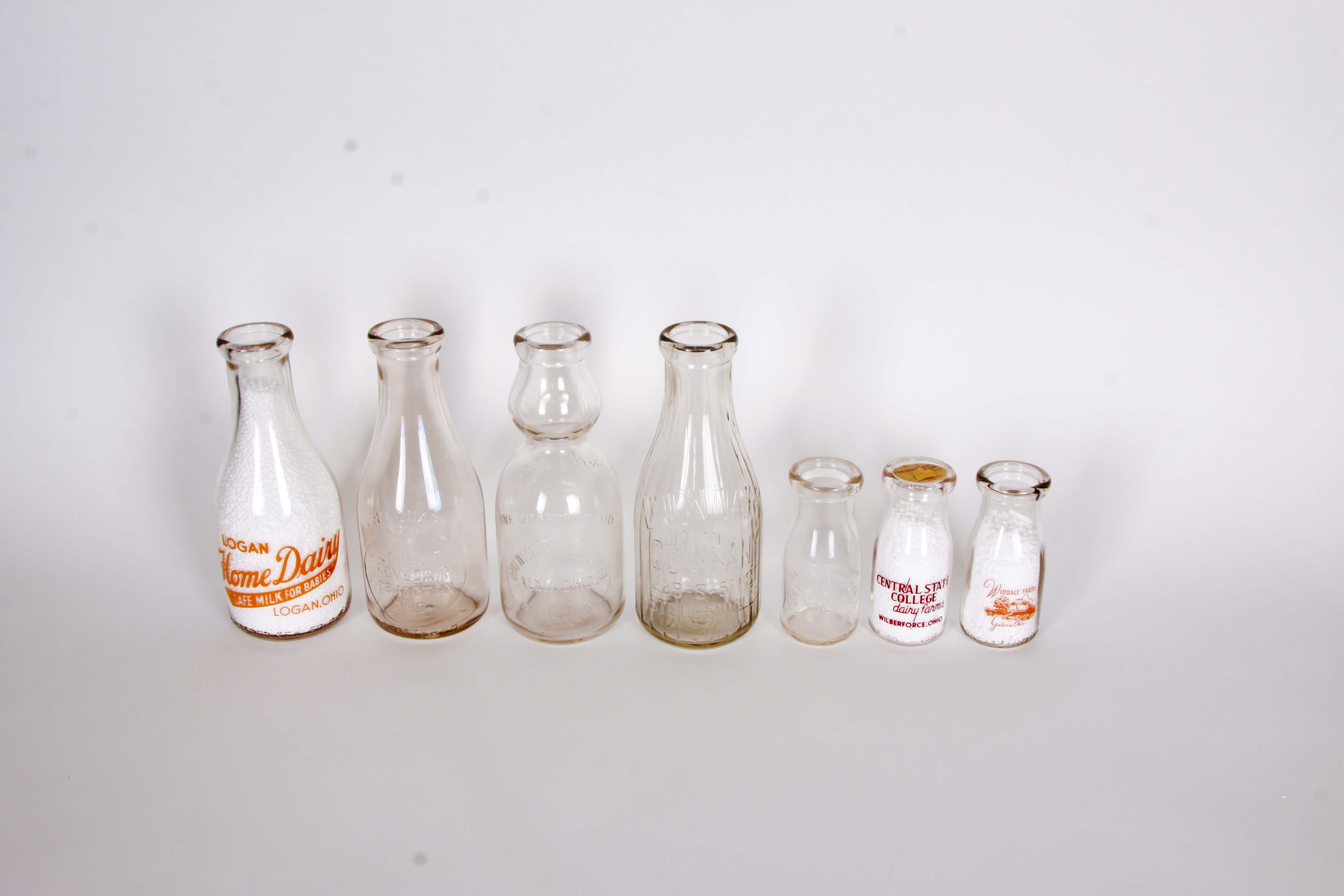 Collection of Vintage Eastern Ohio Dairy Bottles