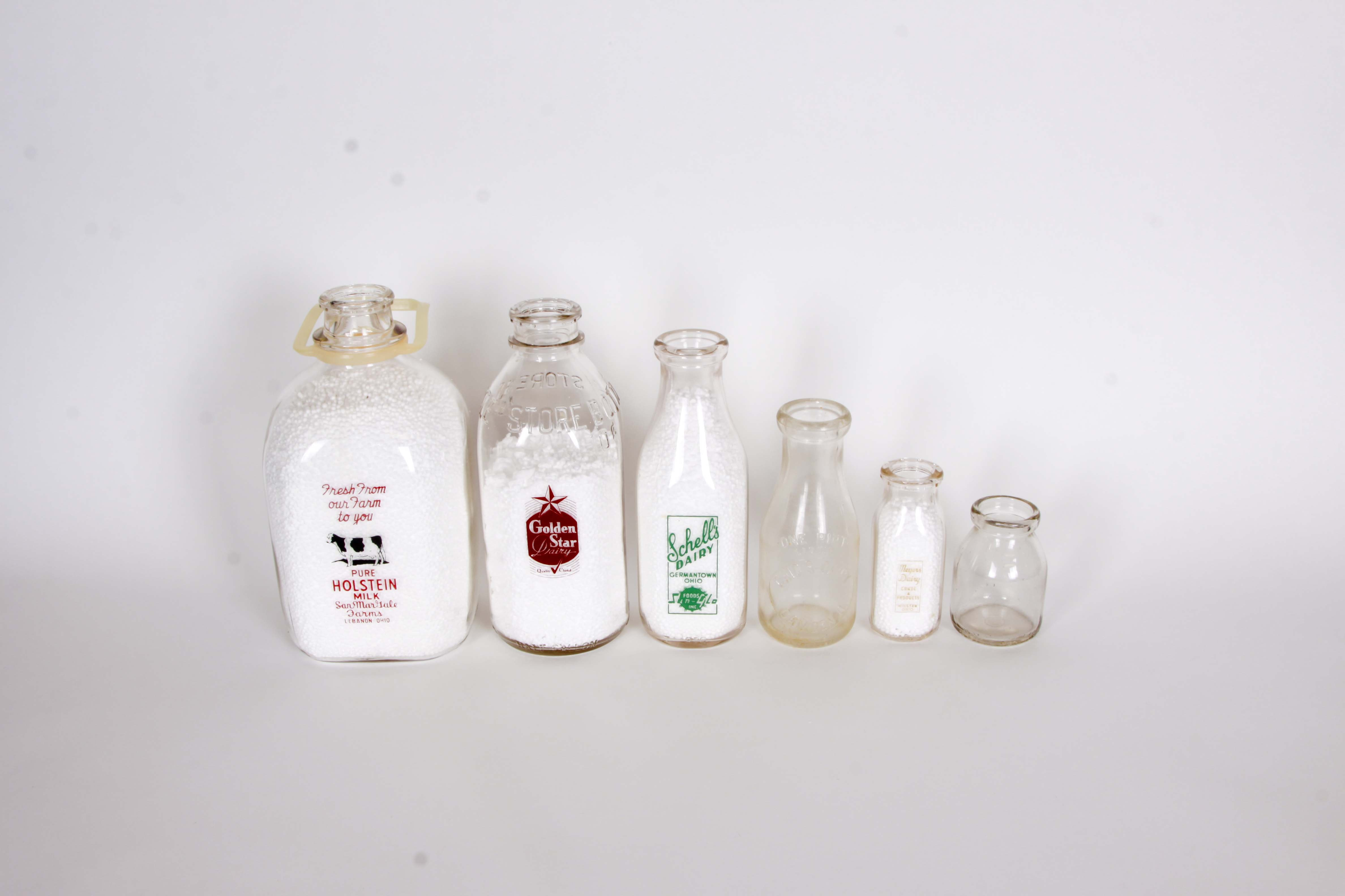 Collection of Vintage Ohio Milk Bottles I