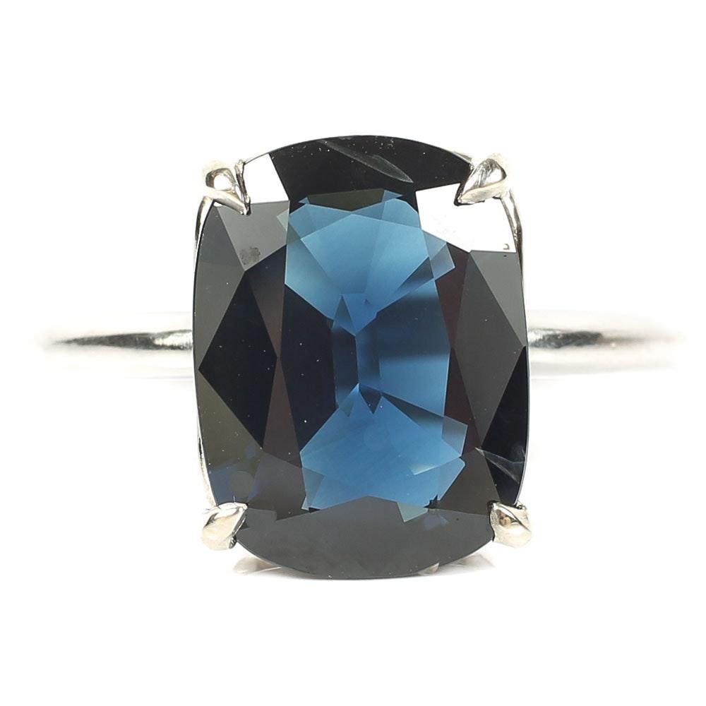 Platinum 5.09 CT Sapphire Ring