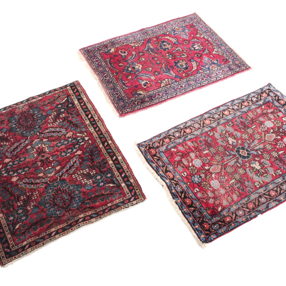 Hand-Knotted Persian Sarouk Accent Rugs