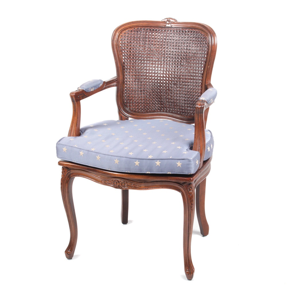 Vintage Cherry Cane Back Armchair