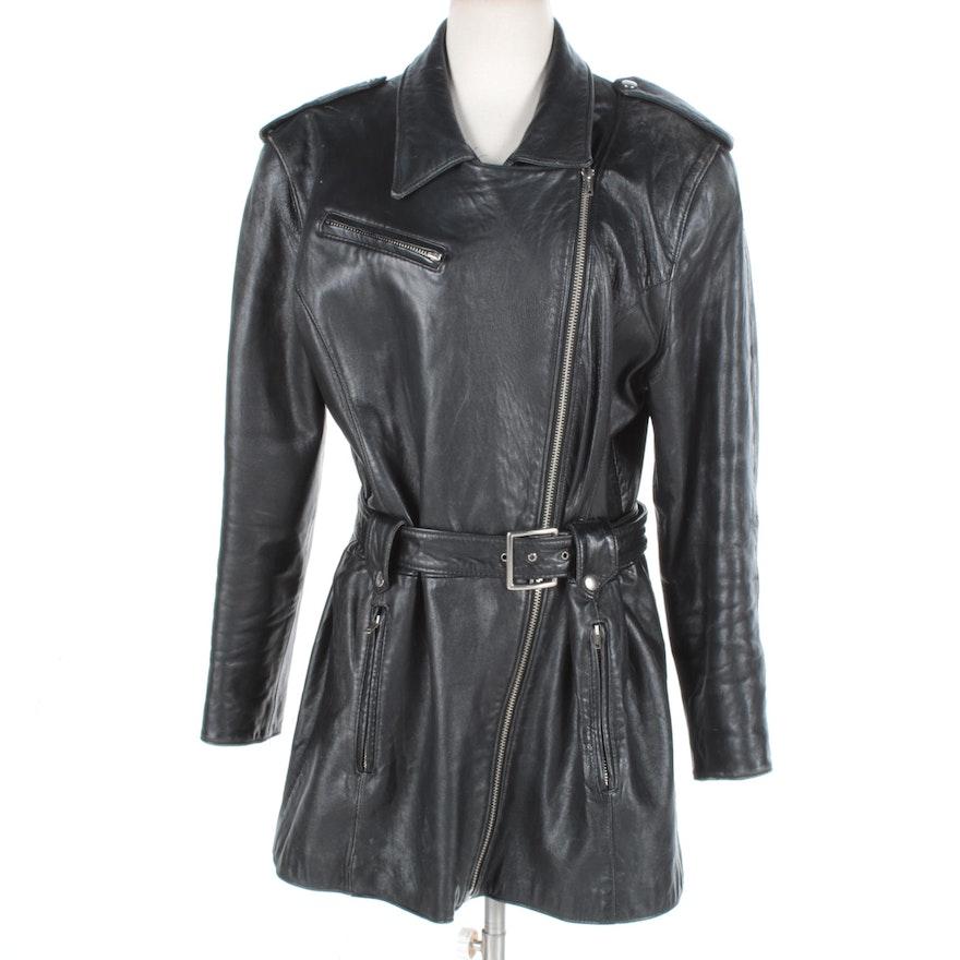 073efccab536 Women s Vintage Nordstrom Leather Jacket and Hat   EBTH