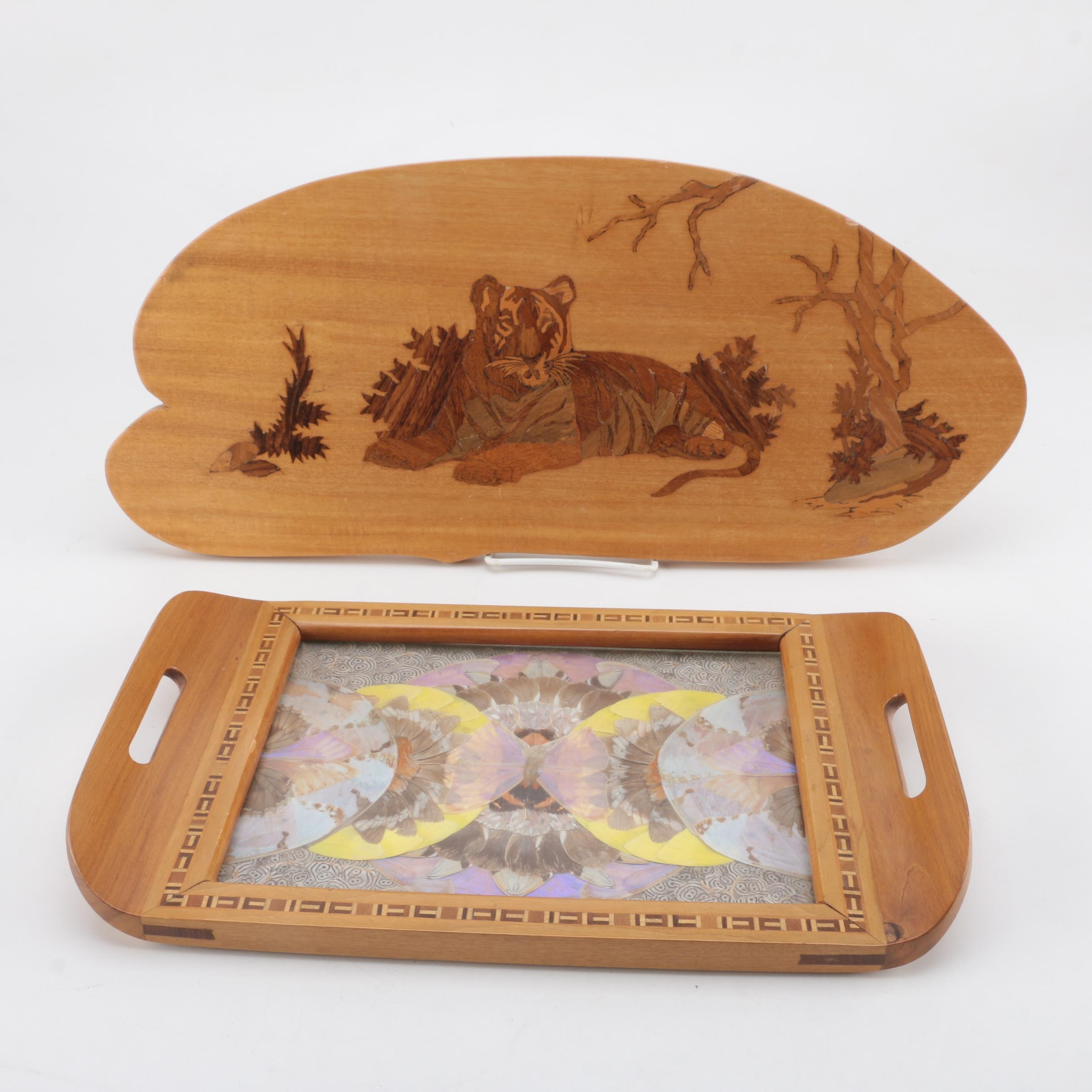 Wood Wall Art and Tray