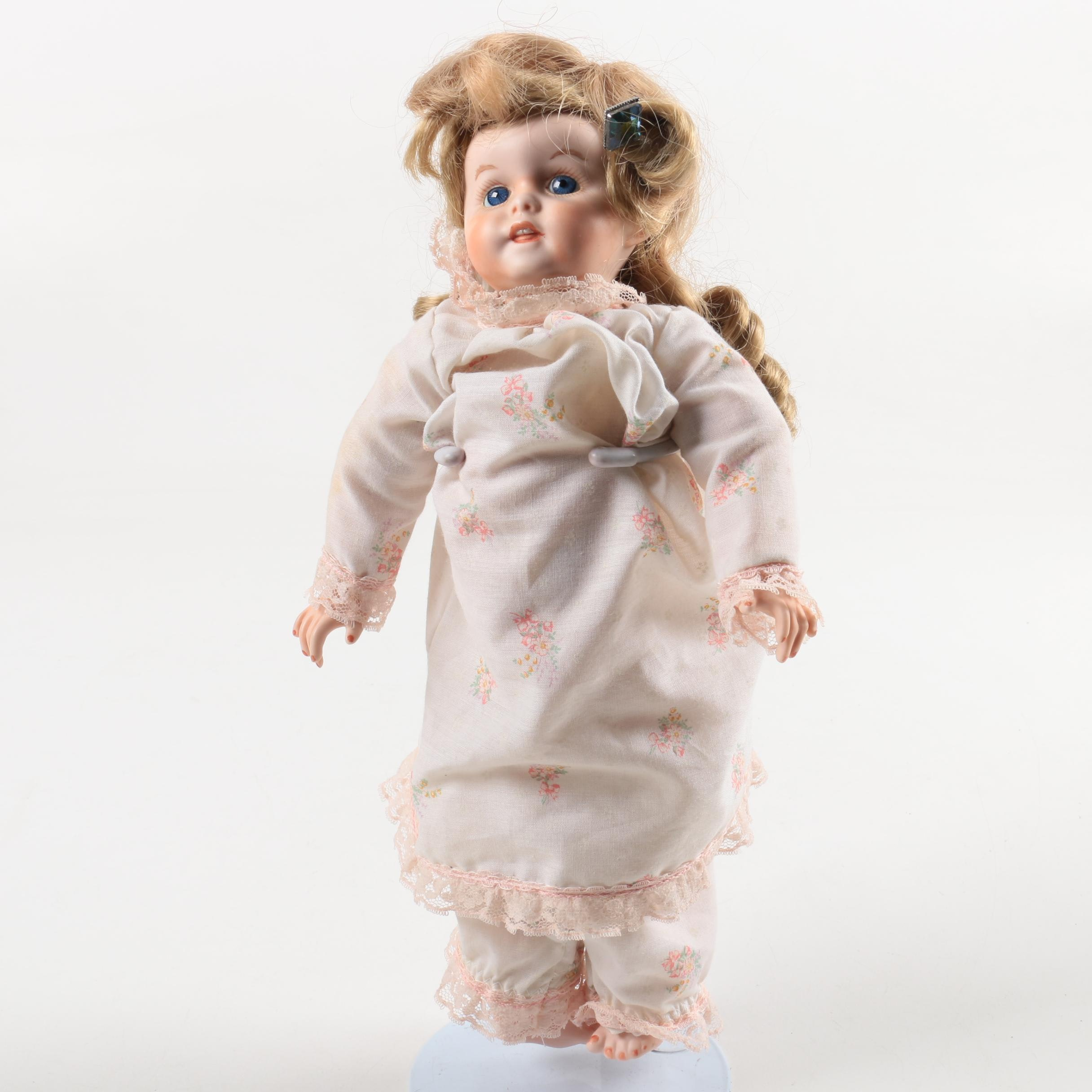 """Modern Reproduction of SFBJ 241 """"Bebe"""" Jointed Bisque Doll"""