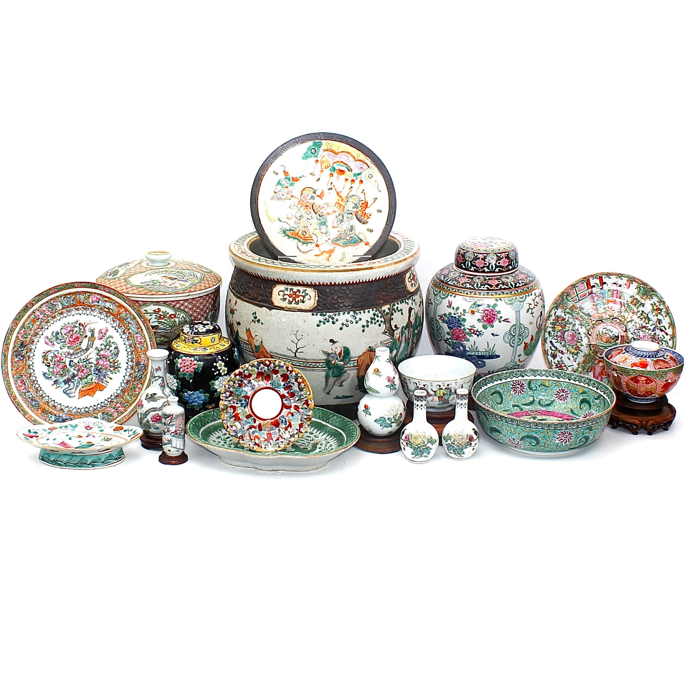 Assortment of Chinese Porcelain Including Antique Import Decor