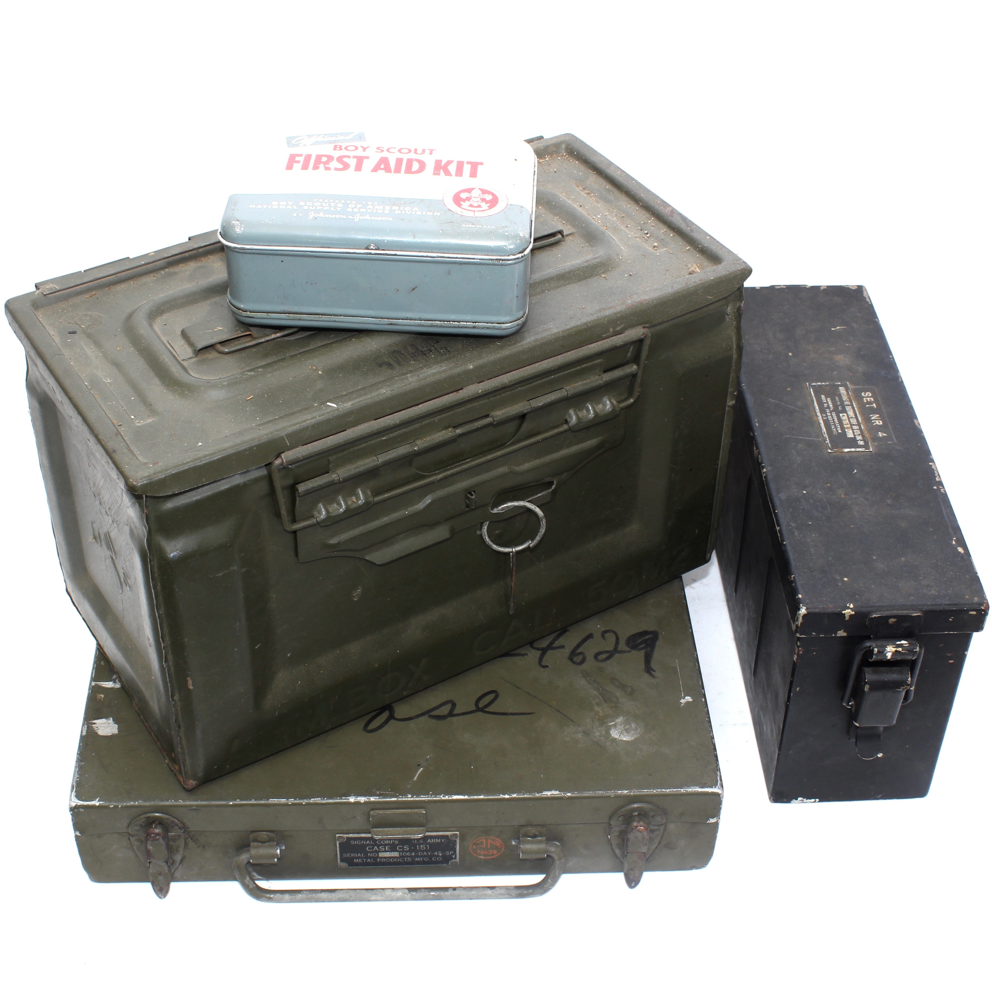 Vintage Military Ammo Cases