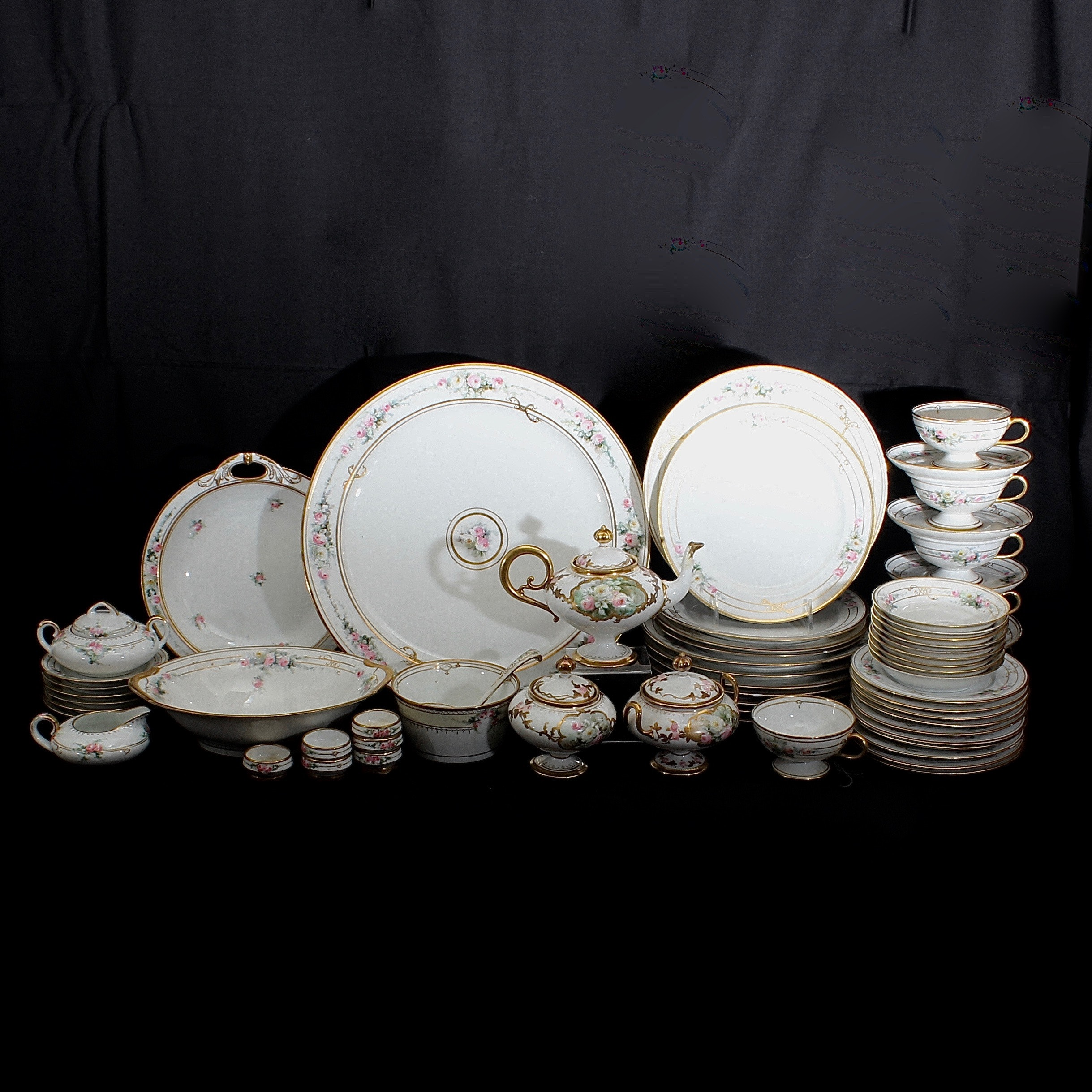 Porcelain Tea Set and Tableware Collection including French Limoges