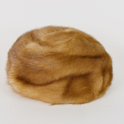 Women's Vintage Mink Fur Hat