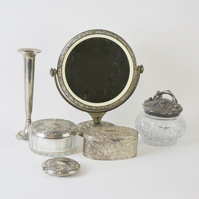 Silver Toned Vanity Items