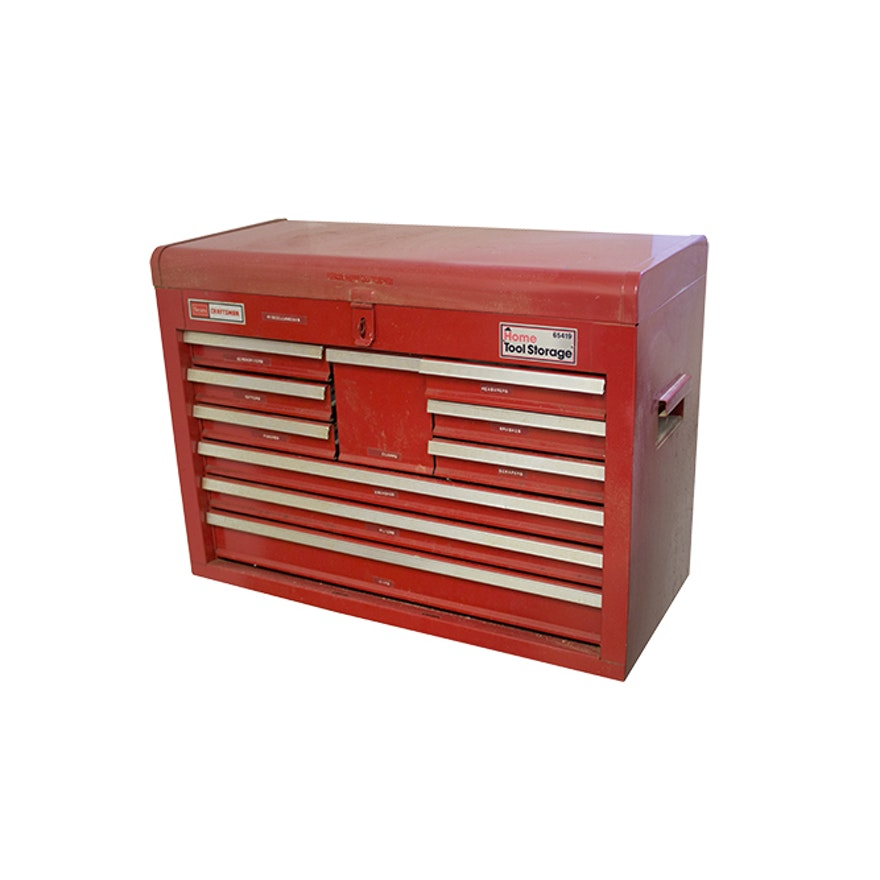 Craftsman Tool Chest with Tools : EBTH