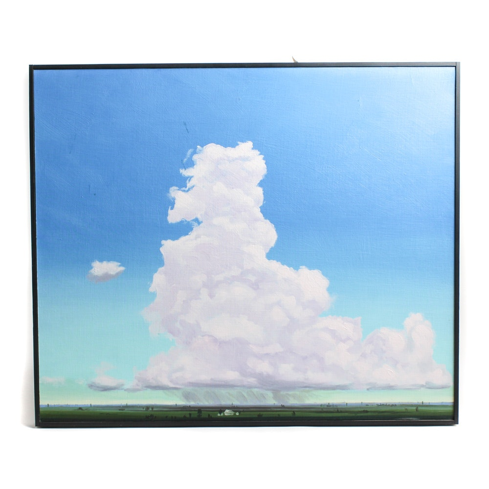 "Ed Charney Oil on Board ""The Cloud"""