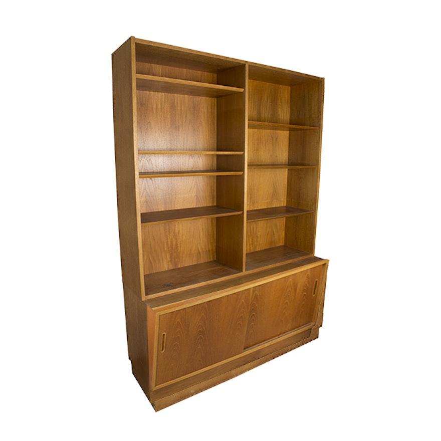 Danish Modern Teak Bookshelf Cabinet