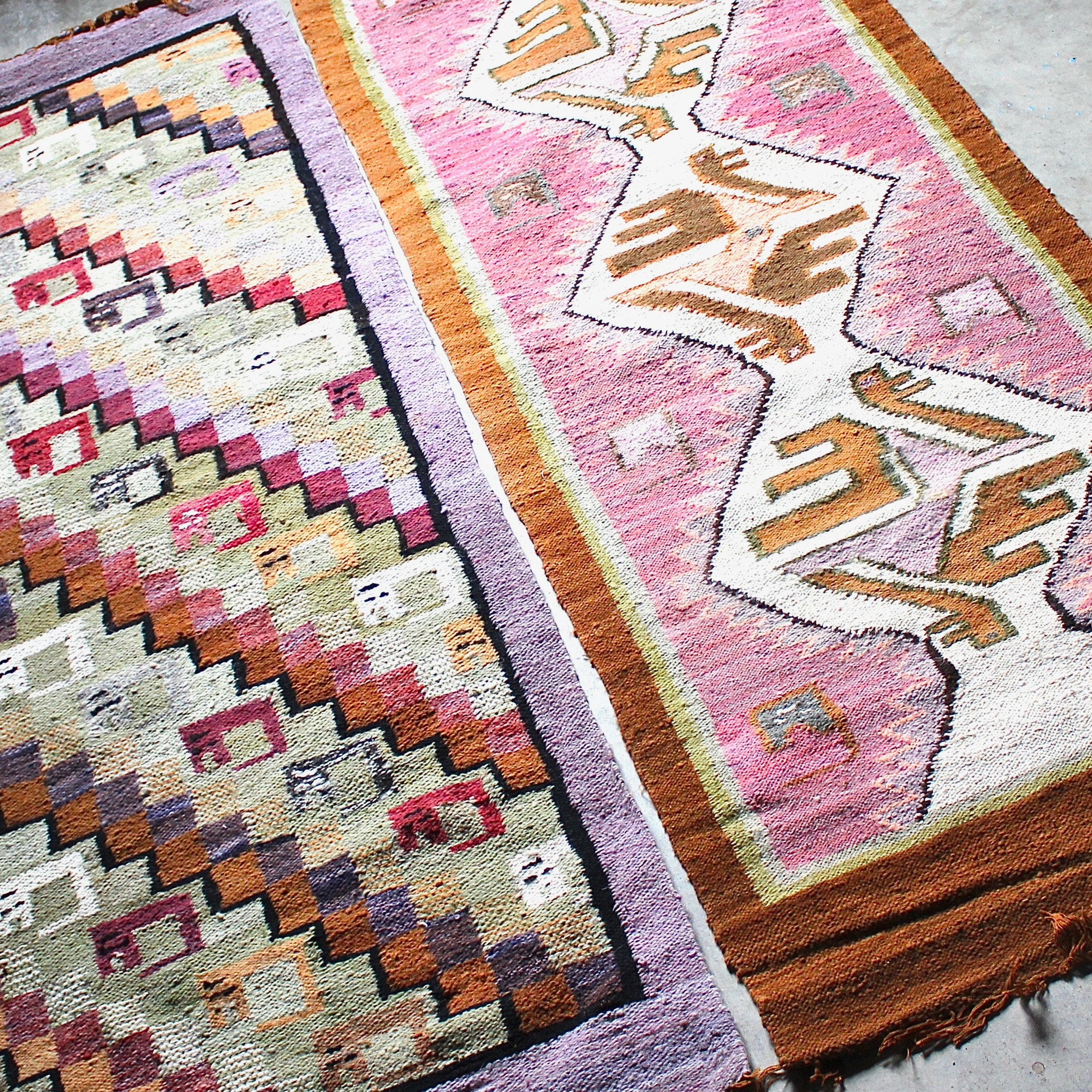 Handwoven Central American Accent Rugs