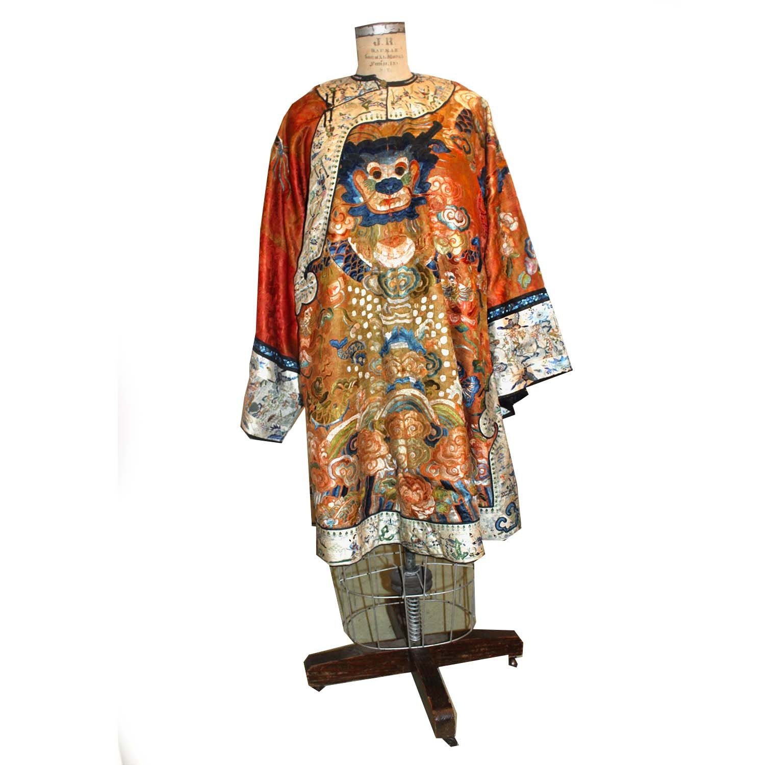 Chinese Silk Embroidered Robe