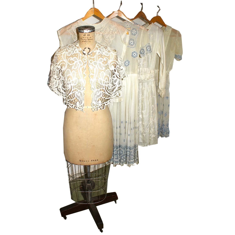 Edwardian Battenburg Lace Capelet and Dresses