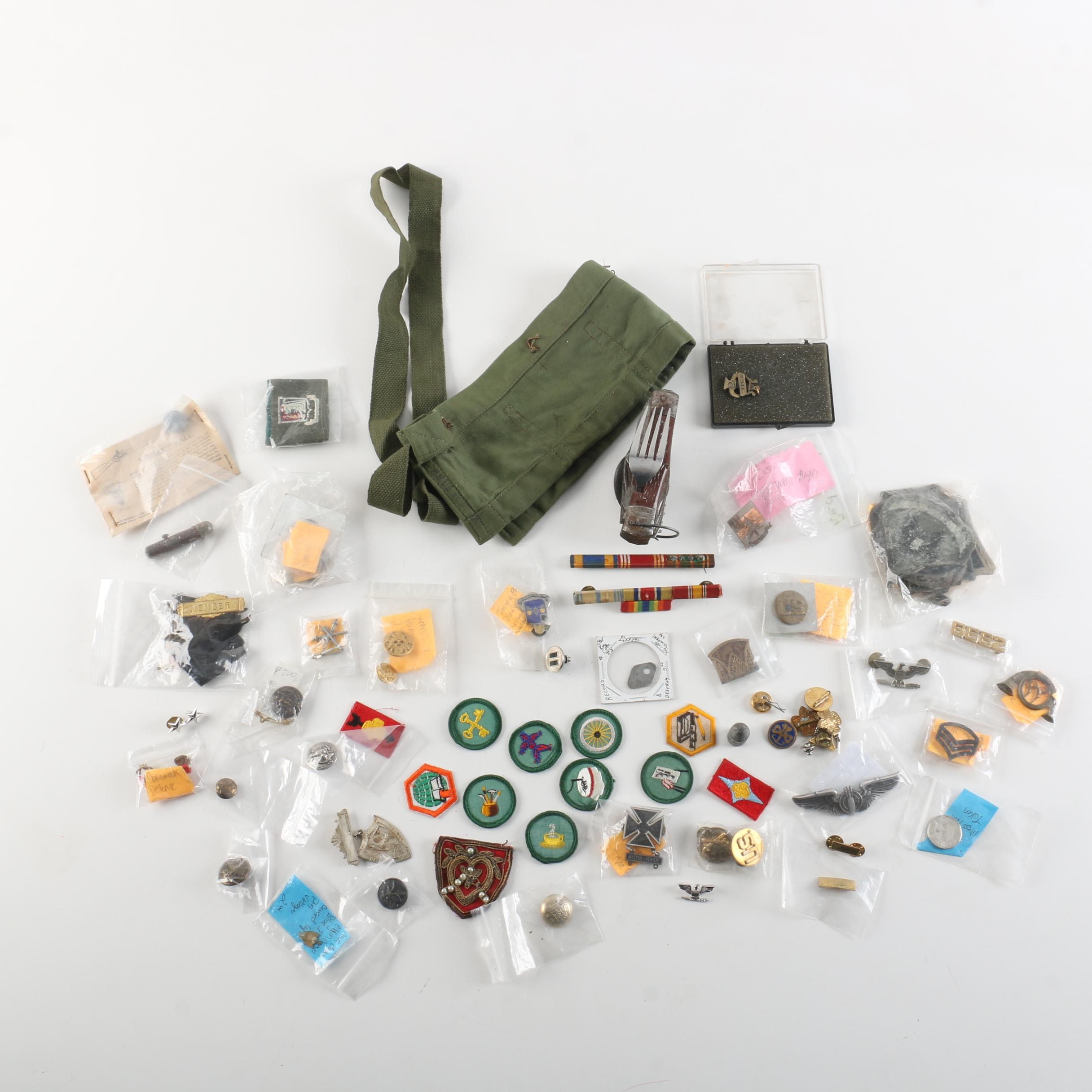 Boy Scout and Military Pins and Patches