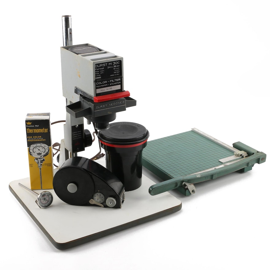 Darkroom Equipment Including Durst M 300 Enlarger