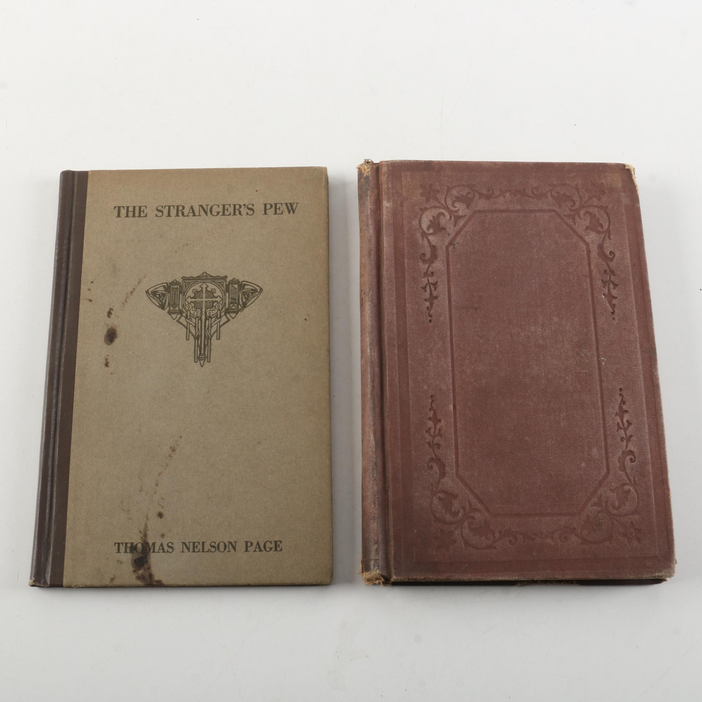 """1873 Commentary on the Methodist Episcopal Church and 1923 """"The Stranger's Pew"""""""
