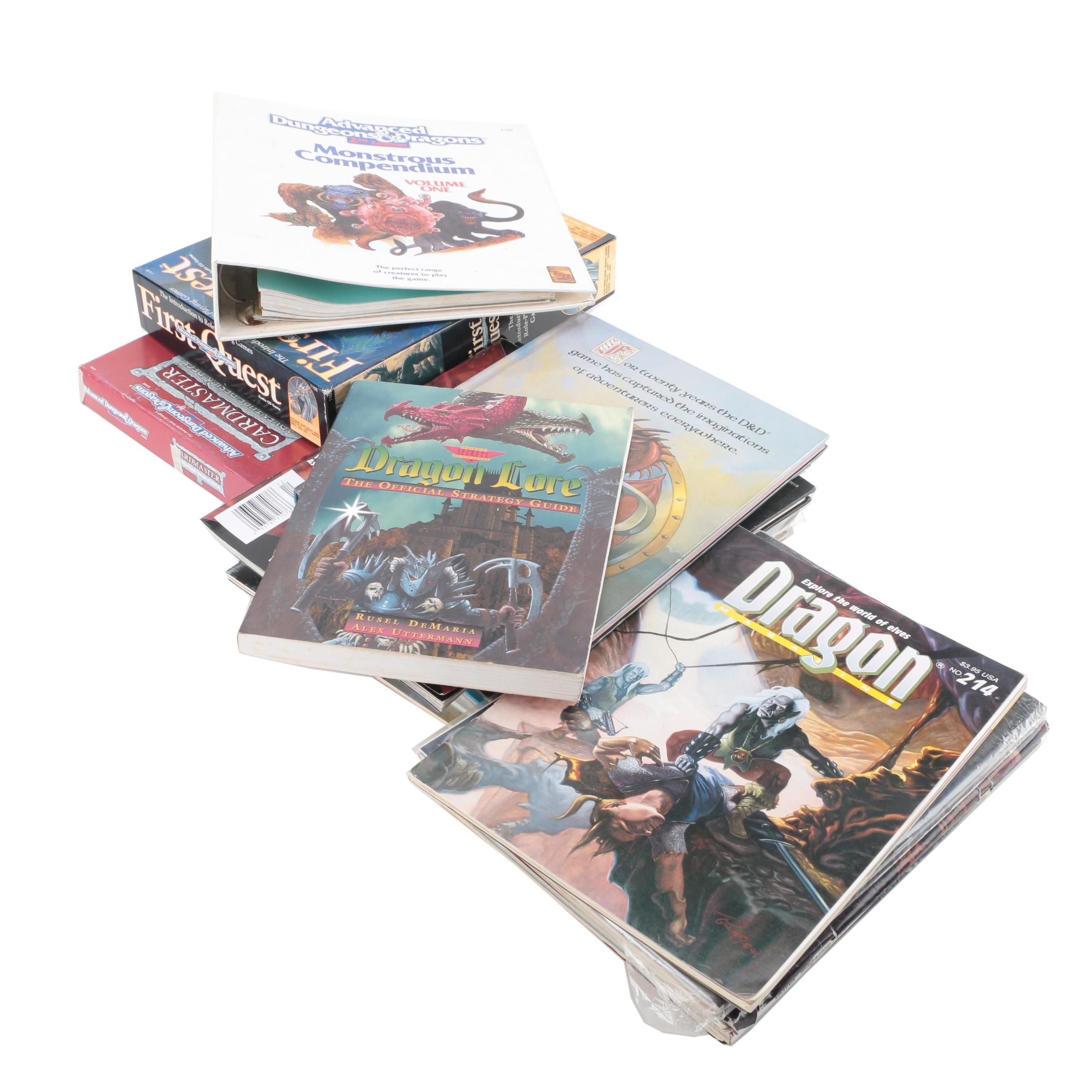 """""""Advanced Dungeons and Dragons"""" Books and """"Dragon"""" Magazines"""