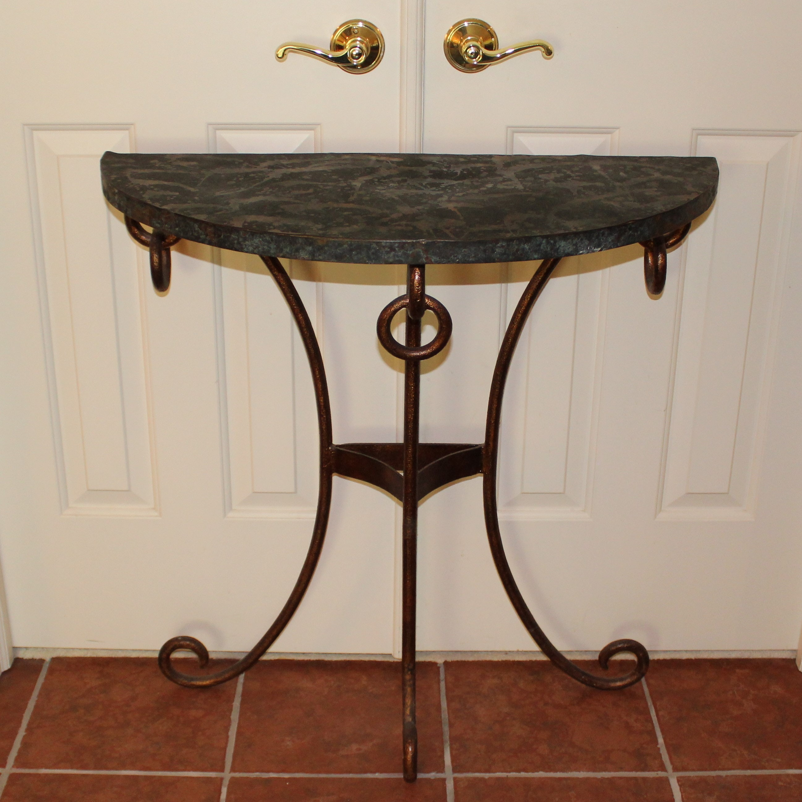 Contemporary Cast Metal Console Table
