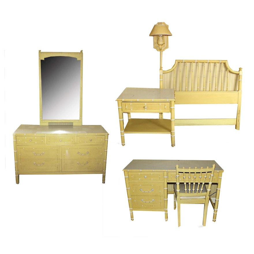 Antique Yellow Bedroom Furniture Bedroom Colour Design Ranch Bedroom Decor Cool Kid Bedrooms For Girls: Vintage Thomasville Children's Yellow Bedroom Furniture
