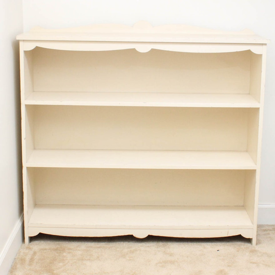 Vintage Painted Wood Bookshelf
