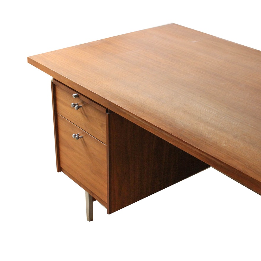 Vintage Mid Century Modern Executive Desk By Leopold Ebth