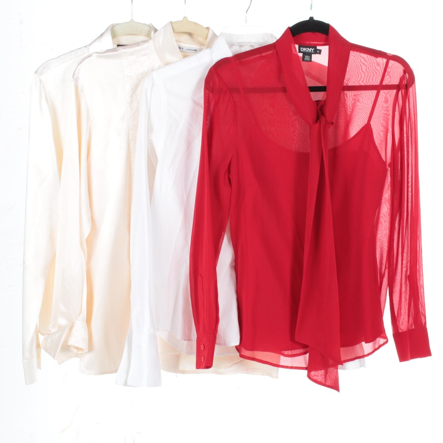 ec3d54e6d1aa04 Women s Blouses and Tops Including St. John and Thomas Pink   EBTH
