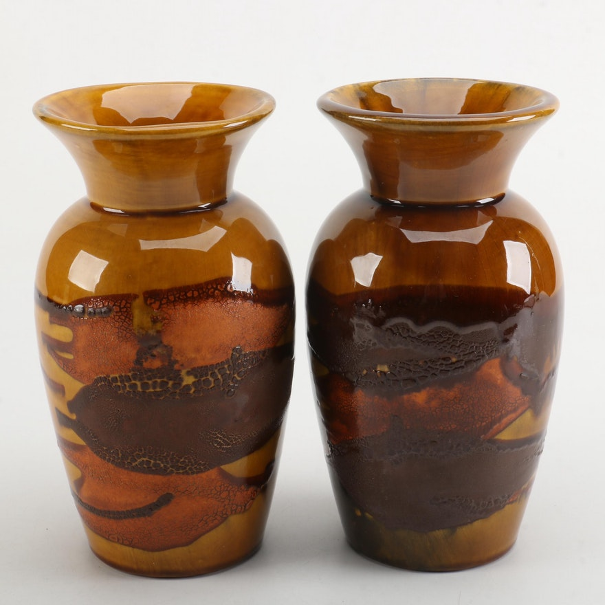 Vintage Royal Haeger Potteryearth Wrap Vases Ebth