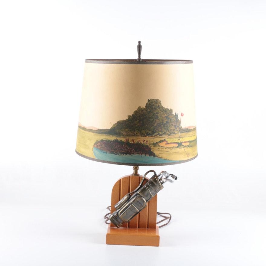Golf themed table lamp ebth golf themed table lamp aloadofball Choice Image