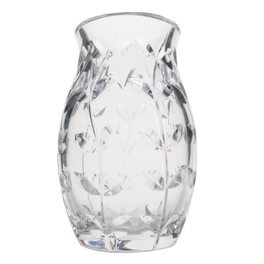Tiffany Co Floral Vine Crystal Tulip Vase Ebth