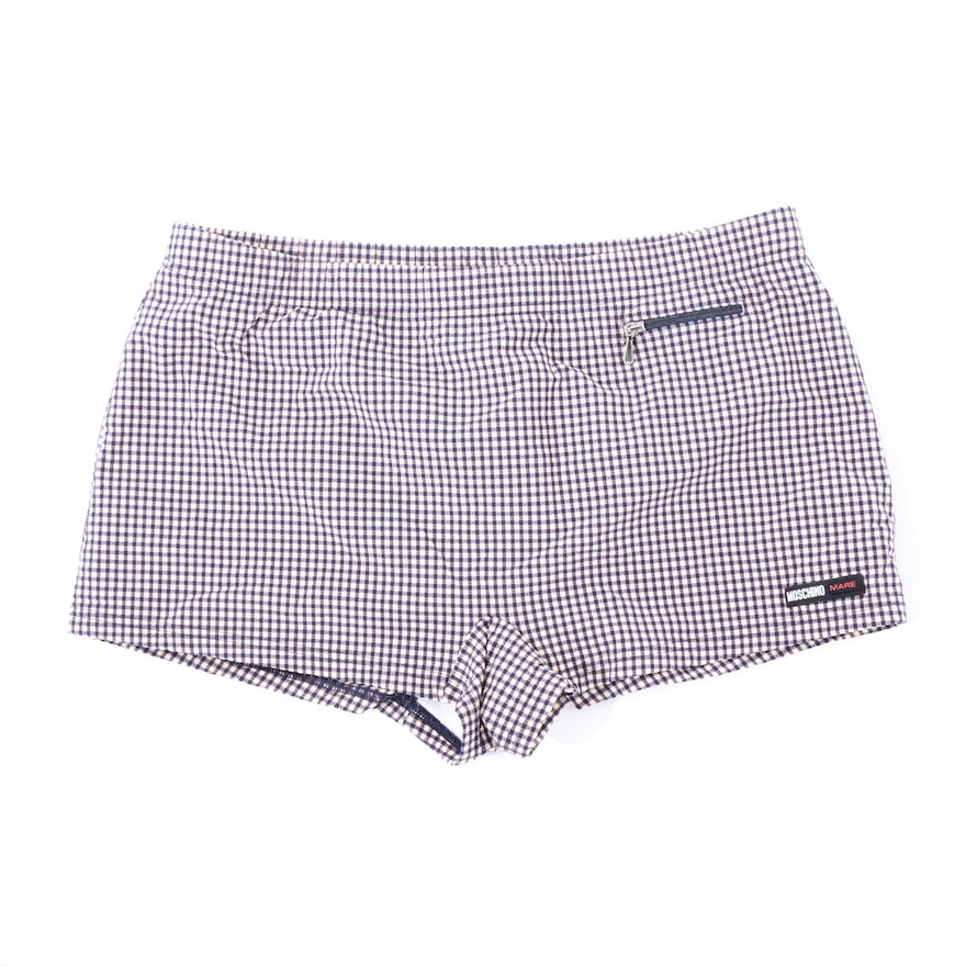 261a84649eb Men's Moschino Mare Plaid Swim Shorts : EBTH