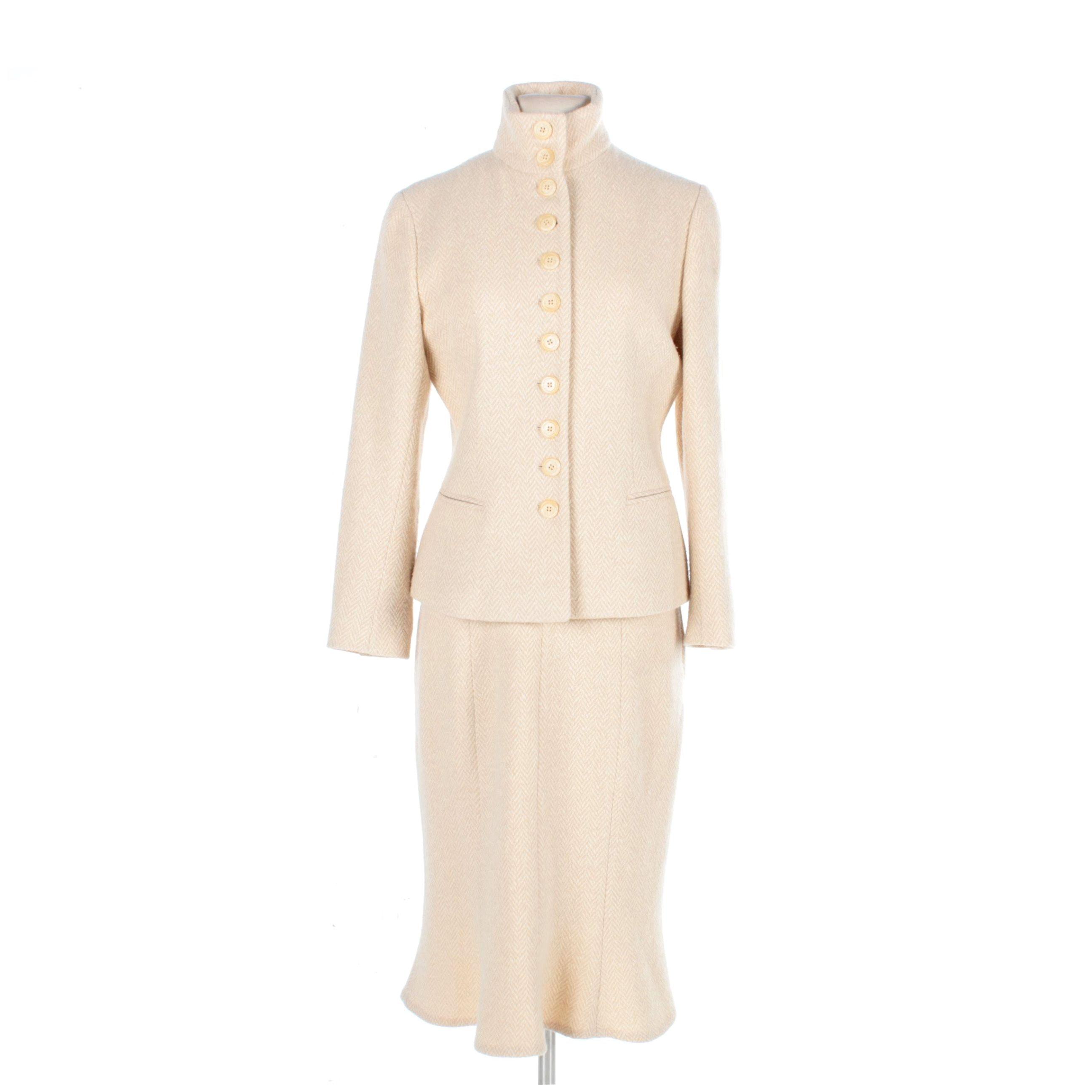 Women S Ralph Lauren Black Label Cashmere Blend Herringbone Skirt