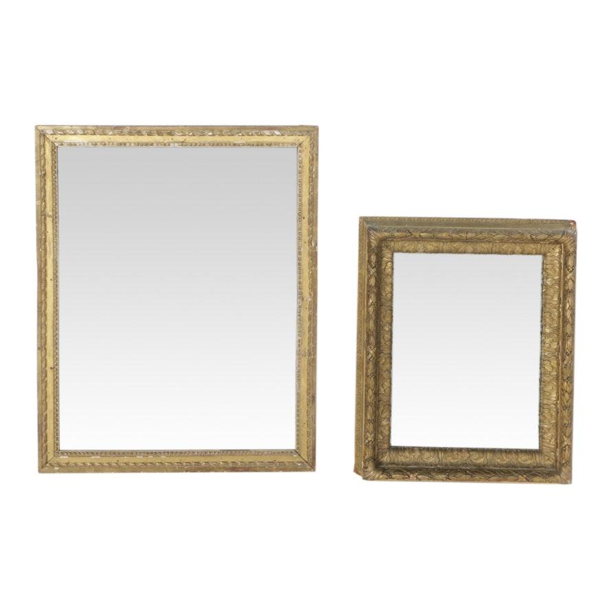 1b01b682e5a Gold Tone Wood Framed Rectangular Wall Mirrors   EBTH