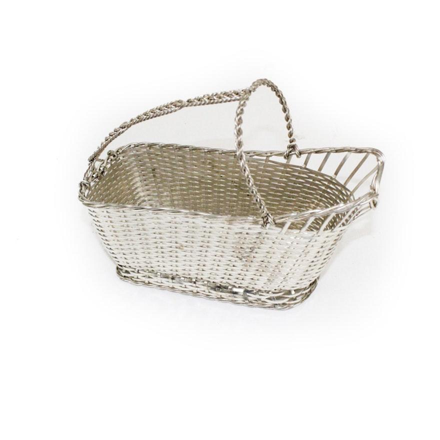 Christofle Silver Plate Wine Basket Caddy : EBTH