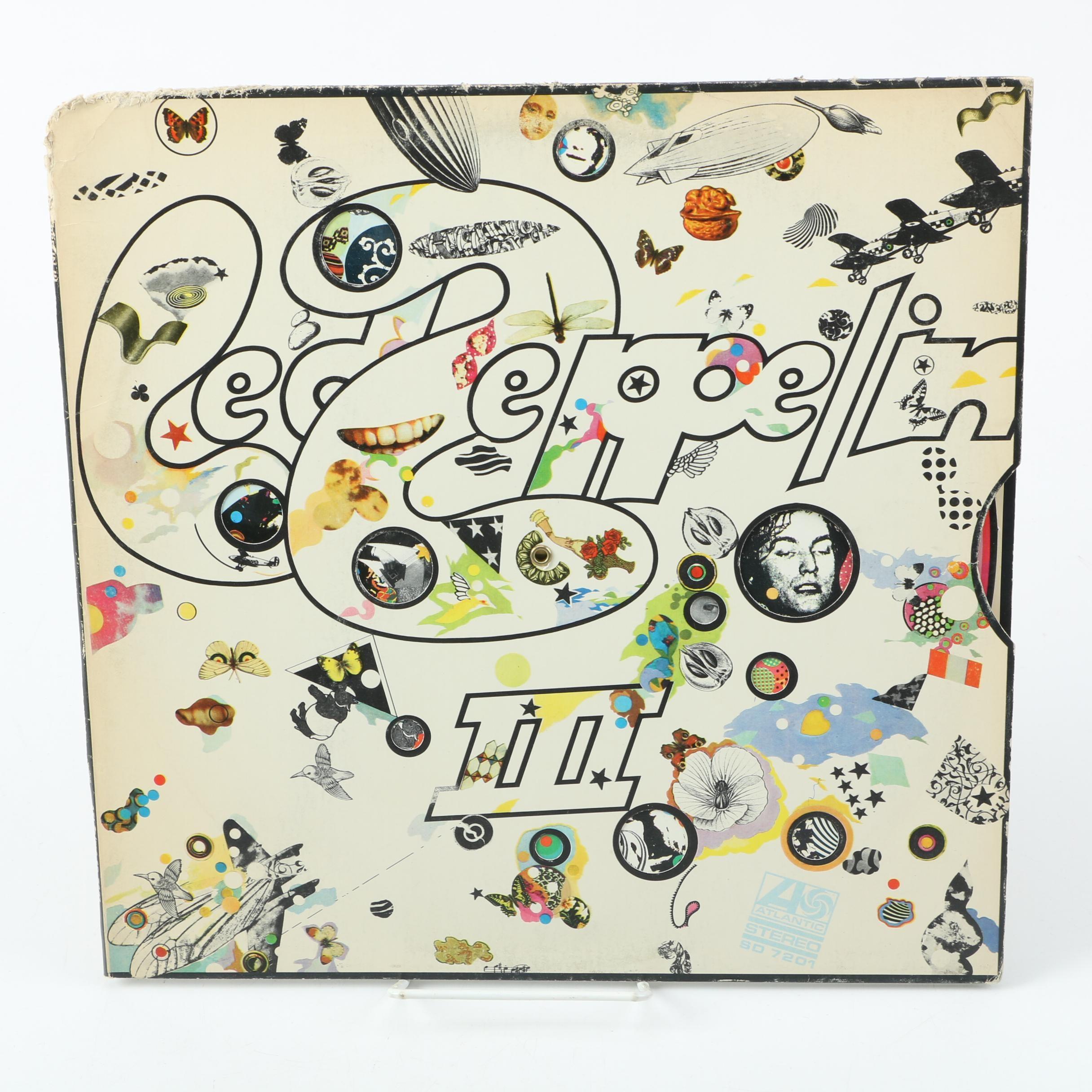 """1970 Led Zeppelin """"III"""" Vinyl LP Atlantic Stereo SD 7201"""