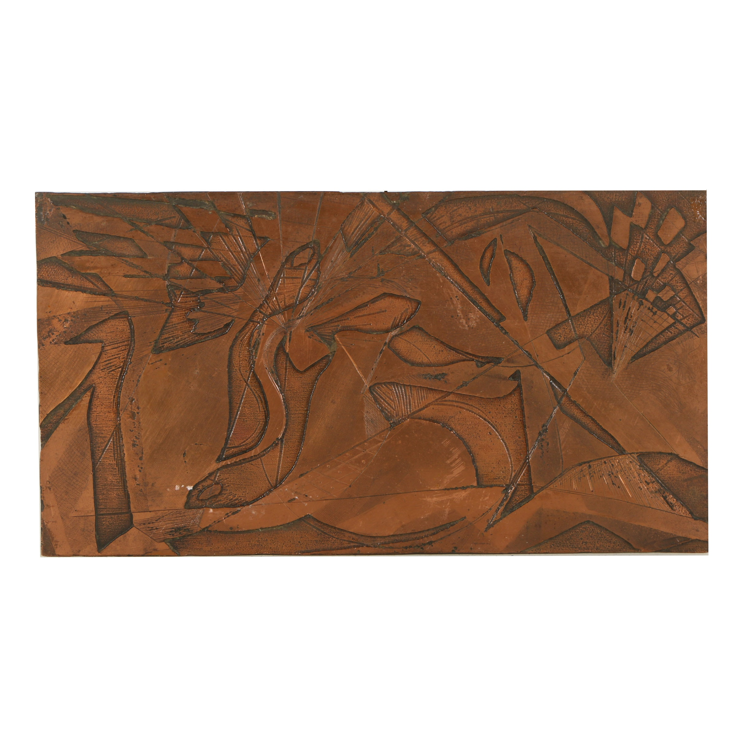 Etched Copper Printing Plate