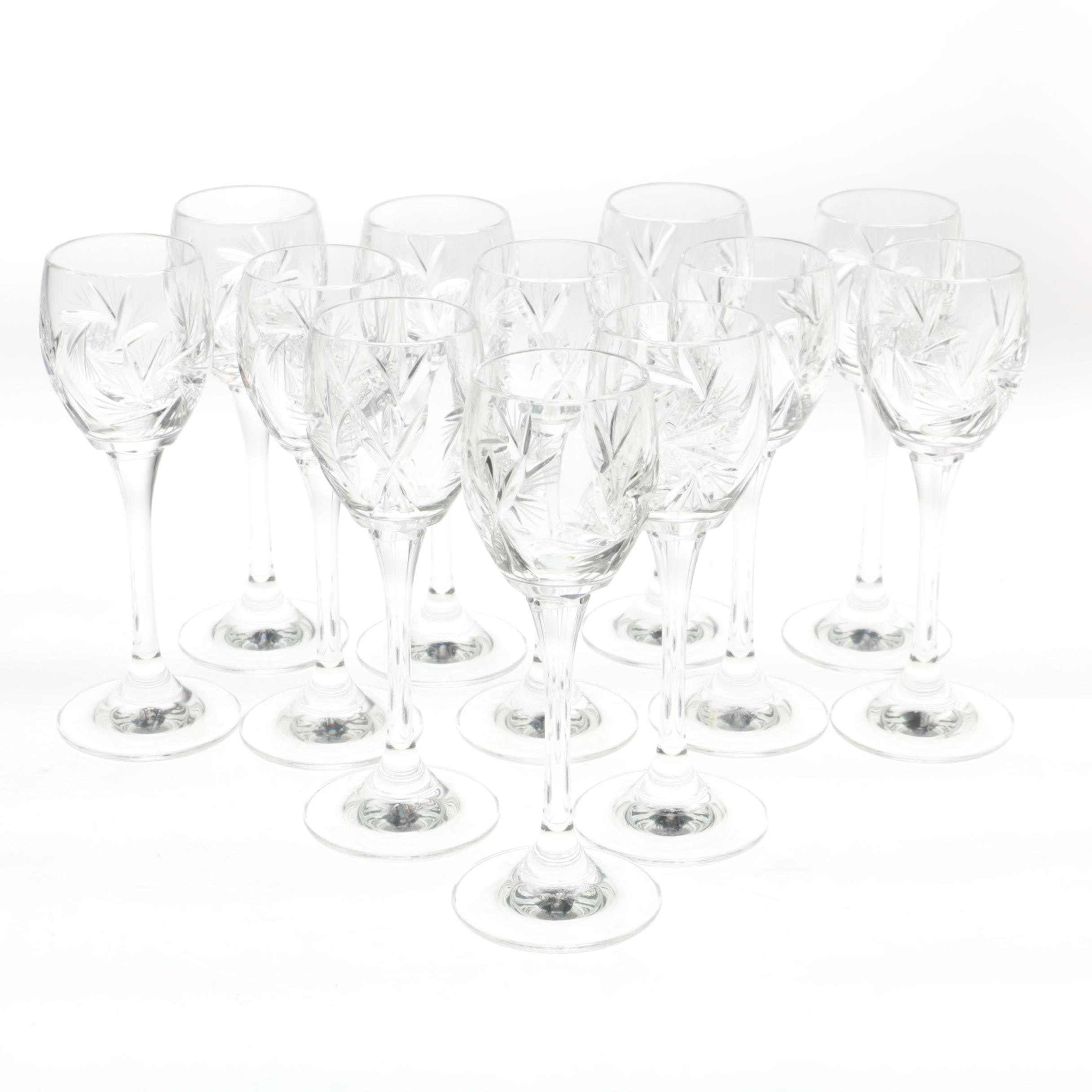 Collection of Crystal Cordial Glasses