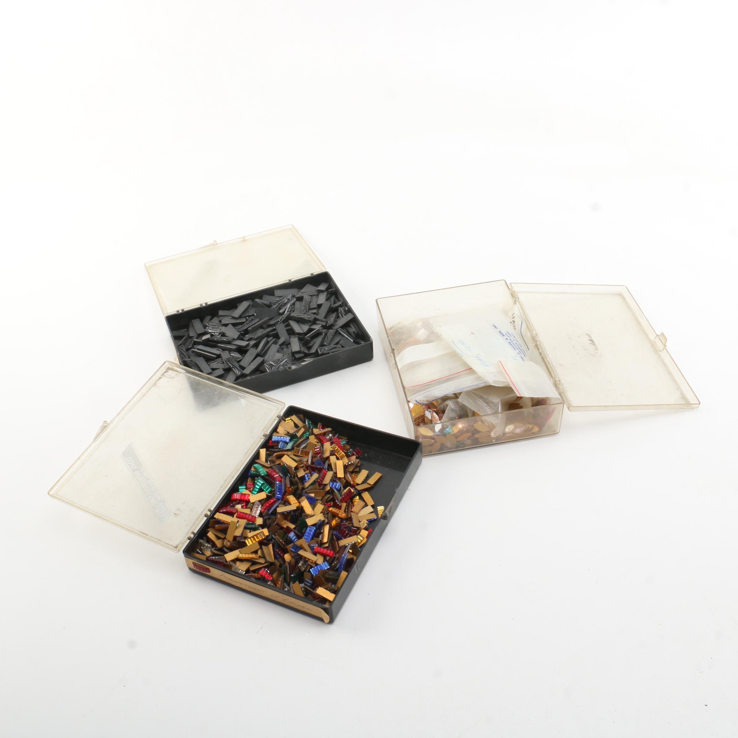 Assortment of Flat Back Beads