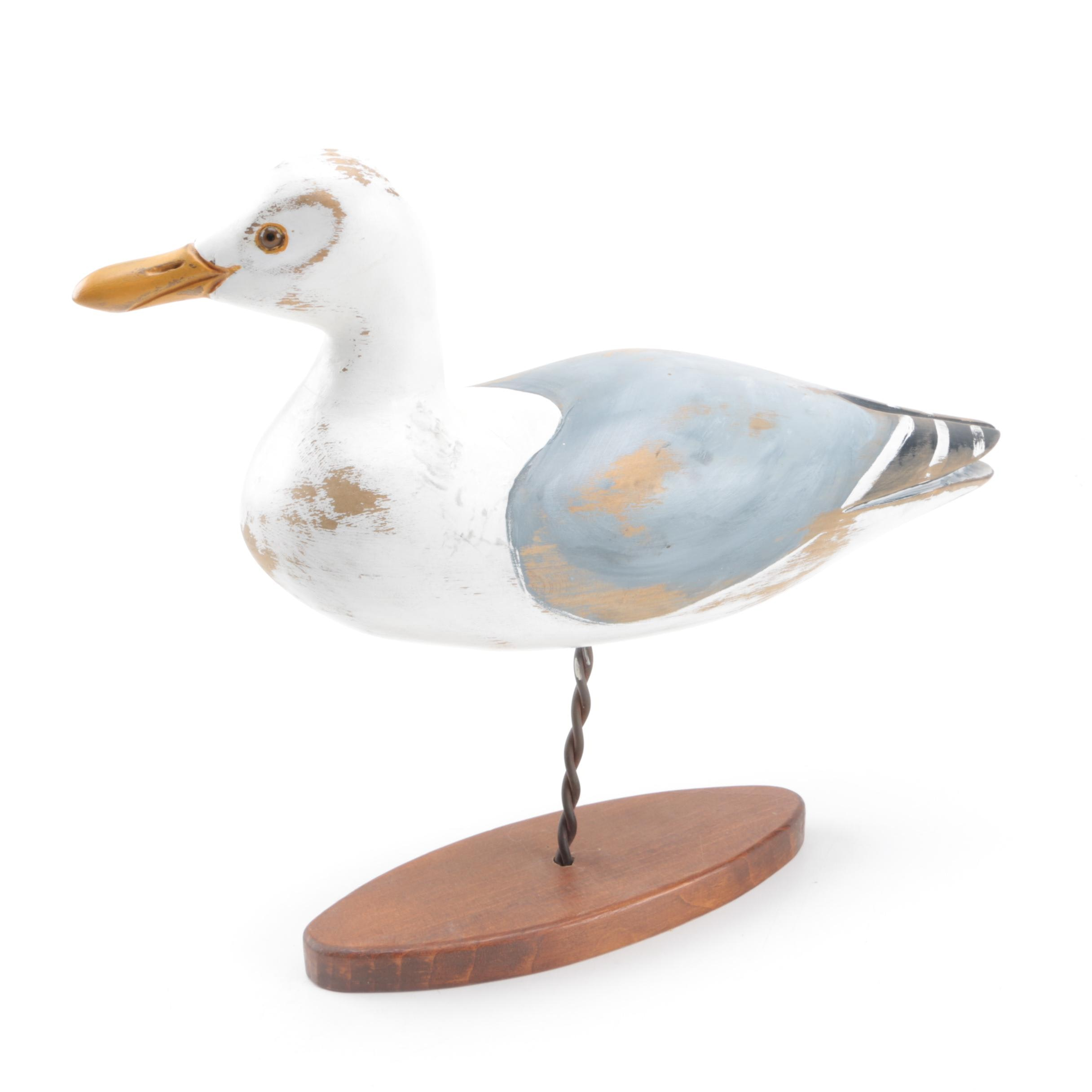 Captivating Carved Wood Seagull Figurine Photo Gallery